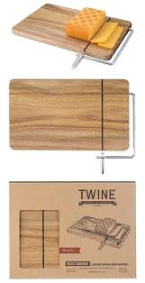 rustic farmhouse acacia serving board stainless steel wire slicer personalized gifts and party favors