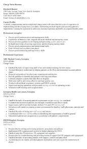 Resume Template Sample Charge Nurse Resume Creative Sample Resume
