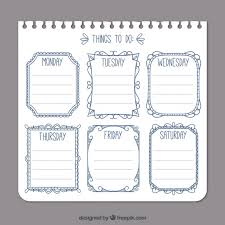List Template Free Simple To Do List Template Vector Free Download