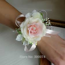 free dhl artificial flower for wedding bridesmaid corsage flower prom wrist corsage event party supplies buque de flores in artificial dried flowers