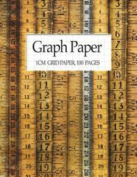 Graph Paper 1cm Grid Paper 100 Pages Metric Graph Paper Notebook 8 5x11 Paperback