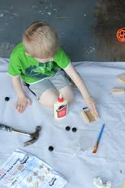 gluing pieces together for a home depot kids work project