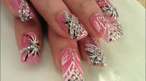 Pointy Nails Designs With Diamonds Beautiful Pretty Diamond Nail Designs Acrylic Nails And