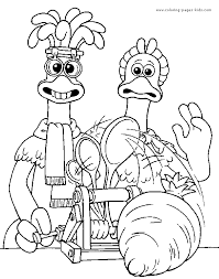 Small Picture Chicken Run color page Coloring pages for kids Cartoon