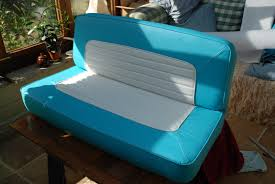 the finished rear bench seat in all its glory to say i am pleased
