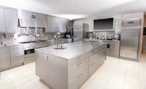 Image of: Contemporary Stainless Steel Kitchen Island