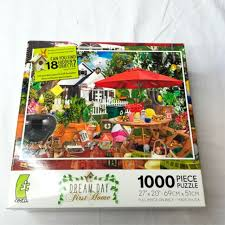 It sometimes called hidden picture and it is a genre of puzzle games. Hidden Object Puzzle Patio 1000 Pc Ceaco Dream Day First Home 27 X 20 For Sale Online