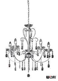 wofi arizona 5 light crystal chandelier polished chrome 5225 05 01 0000 none