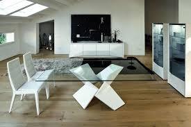 modern glass dining table. White Modern Dining Sets With Curved Back Chairs Rectangular Glass Table Two Display Shelves