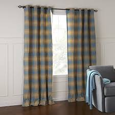 custom size curtains iyuegou classic country blue striola plaid eco friendly grommet top