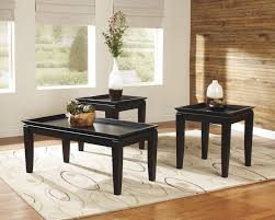 coffee table awesome black rectangle or square contemporary wooden 3 piece coffee table sets under