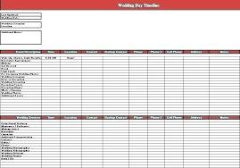 Wedding Day Timeline Excel 6 Month Timeline Template Wedding Calendar Free My Weekly