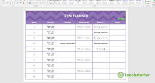 Microsoft Daily Planner Delectable Create Your Own Teacher Planner Using Printable Templates