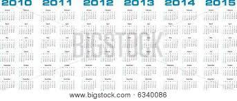 Calendar 2013 Through 2015 Calendar 2010 Through Vector Photo Free Trial Bigstock