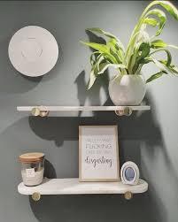 sakari marble shelf 50cm white
