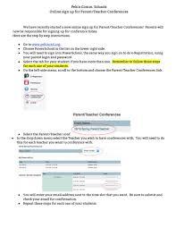 Pekin Csd New Parent Teacher Conference Scheduling Procedure