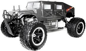 fs racing 30cc 1 5 monster truck rc à essence hummer 2 4ghz
