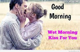 morning kiss romantic couple kissing good morning image