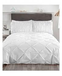 balm pin tuck white super king duvet cover bedding set