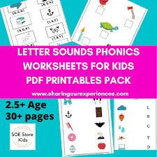 1.4 what if my students. Soe Store Kids Learning Letter Sounds Phonics Level 1 Pdf Downloadable Worksheets For Kids 3 5 Yrs Above Sharing Our Experiences