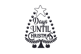 A countdown to christmas day using react. Days Until Christmas Svg Cut File By Creative Fabrica Crafts Creative Fabrica
