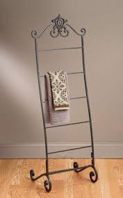 wrought iron bathroom shelf. Wrought Iron Towel Stand For Bathroom With Cly Look Floor Shelf