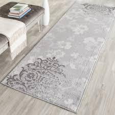 safavieh adirondack vintage damask silver ivory runner rug 2 6 x 18