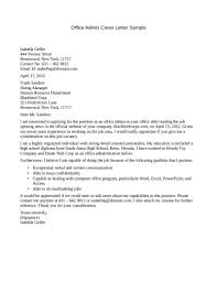 Cover Letter Cover Letter Sample Administrative Administrative