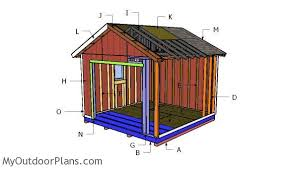 E Building A 12x12 Shed With Garage Door