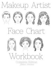 bol makeup artist face chart workbook jumbo edition sarie smith 9781523878260 boeken