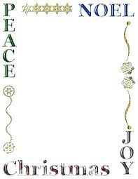Christmas Stationery Templates Word Free Printable Stationery