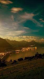 Lake Mountain City Village Night Light ...