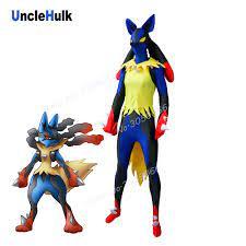 Mega Lucario Kostüm Schwarz und Blau Spandex Zentai Kostüm |  UncleHulk|zentai costumes|spandex lycralucario costume - AliExpress