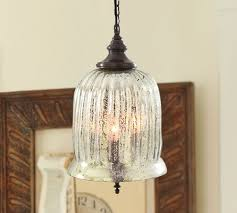 kaplan mercury glass pendant pottery barn