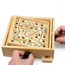 Wooden Maze Games New Top ChildrenAdult Educational Toy Recreation Party Labyrinth 31