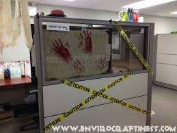 office halloween decorating themes. bloody handprint glass office halloween decorating themes c