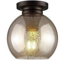 mercury silver oil rubbed bronze metal glass led flush mount