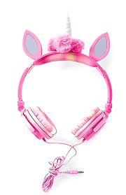 Unicorn Light Up Headphones Amazon Com Justice Girls Pink Led Light Up Unicorn Over The
