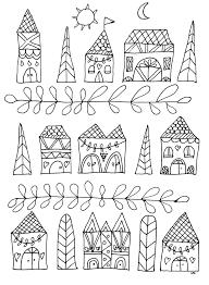 Maisons Simples Par Olivier Coloriage Adulte Coloriages Pour