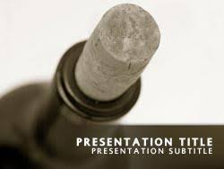 Wine Powerpoint Template Royalty Free Wine Bottle Powerpoint Template In Yellow