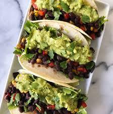 Black Bean + Guacamole Tacos – healthyGFfamily.com