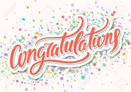 Congratulations Card Hand Lettering Royalty Free Cliparts Vectors