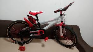 Xe đạp trẻ em cho bé 6, 7, 8, 9, 10, 11, 12 tuổi màu đỏ