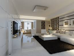 Black Carpet For Bedroom Modern White Marble Flooring For Living Room With Black Carpet And