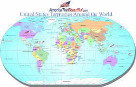 United States Map Of The World Us Territories