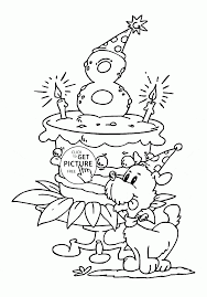 Small Picture Happy Birthday Coloring Pages Printable Cute Kids And Happy