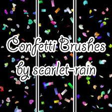 Confetti Brush Photoshop Confetti Photoshop Brushes By Scarlet Rain On Deviantart