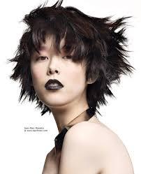 Asian Woman Hair Style short haircut with choppy texture for asian women 7692 by stevesalt.us
