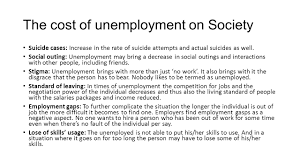 Cost Of Unemployment Discuss The Impact Of A Nations Unemployment Rates Ppt