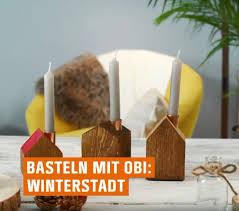 Weihnachtliche Winterstadt Basteln Videoanleitung Obi